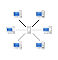 Server-based centralized network